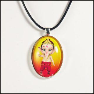 My Friend Ganesha Pendant Necklace Baby Lord Ganesh as Little Kid Boy