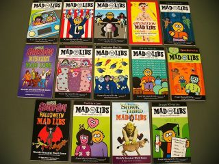 Lot 14 Mad Libs Word Game kids books travel Fun Car set For President