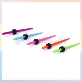 Taper Stretchers Expander Plug 12g Gauge Earring Black O Ring