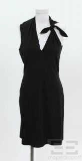 Jean Paul Gaultier Black Wool Asymmetric Tie Dress Size 10