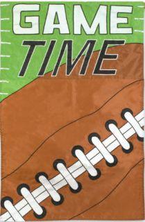 Game Time Football Applique Decorative Mini Garden Flag