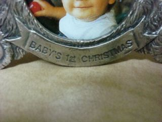 Ganz Babys First Christmas Teddy Bear Hanging Ornament Photo Frame