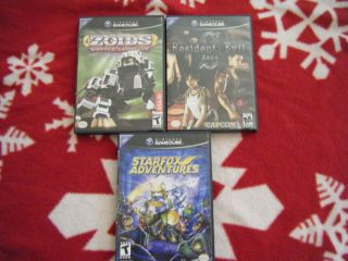 Gamecube Games (Star Fox Adventures, Resident Evil Zero, Zoids Battle