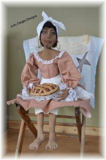 Primitive Black Mammy Art Doll OOAK Handmade