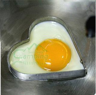 Heart Shaped Love Fried Egg Mold Mould Stainless Steel Pancake