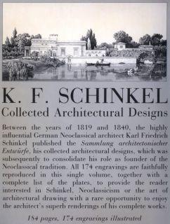 Karl Friedrich Schinkel Collected Architectural Designs 174 Engraved