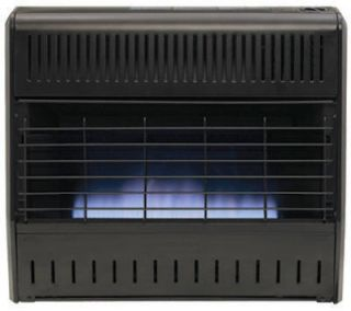 30000 BTU Blue Flame Dual Fuel Vent Free Gas Garage Wall Heater