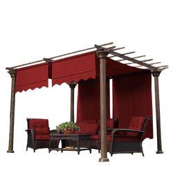 Garden Oasis Deluxe Pergola I Replacement Canopy Cinnabar
