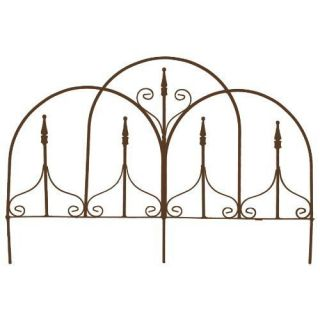 FE113 Metal 48 L x 25 H Mountain Garden Border Fence