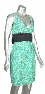 Plenty Frock by Tracy Reese Womens 100 Silk Green Lilian Clover Short