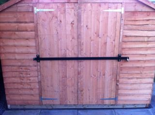Garden Shed Lock Bar Garage Door Security Heavy Duty Steel Safety