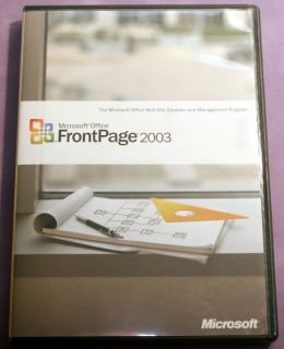 Microsoft Office FrontPage 2003 Web Site Creation Design Genuine