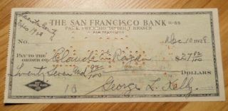 HOF MLB Baseball Player GEORGE KELLY Hand Signed Autographed Bank