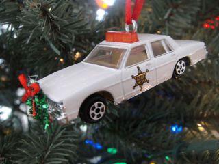 Dukes of Hazzard General Lee Rosco Christmas Tree Ornament