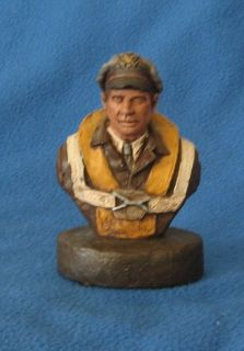 1985 Michael Garman Signed Sculpture Hand Painted Aviator