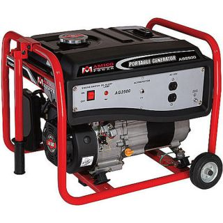 Watt Portable Gasoline Generator w Wheel Kit Gas Powered Motor Wheels