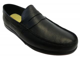 Generic Surplus Mens Gerry Beckley Leather M21GB03 Black Loafers Shoes