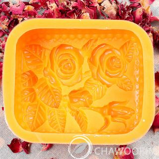 Rose GARDEN03 Silicone Soap Molds Candle Molds Crafts Candle Soap