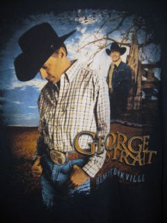 George Strait Honkytonkville Concert Shirt 2004 GREAT CONDITION