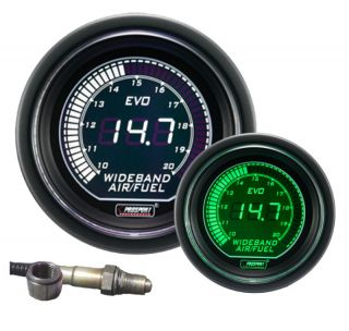 Wideband Air Fuel Ratio Gauge w Bosch O2sensor Green White 0 5v output