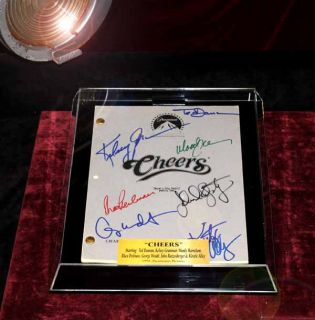 Cheers Screen Used Prop Sign COA Signed Script UACC Ticket Shirt More