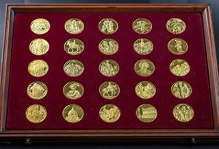 Franklin Mint Treasures of The Renaissance 24K Gold Plated Sterling