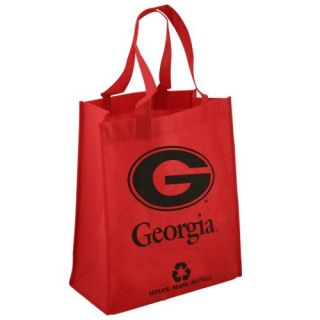 click an image to enlarge georgia bulldogs red reusable tote bag tote