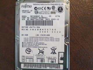 Fujitsu MHV2080AT PL CA06297 B23800C1 03B5 0022 80GB 2 5 IDE ATA Hard