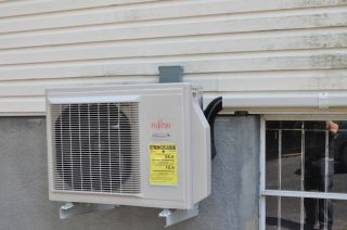 Fujitsu 9RLS Ductless Split Air Conditioner Installed