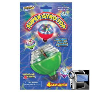 Super Sonic Laser Gyro Top Spinning Toy w LED