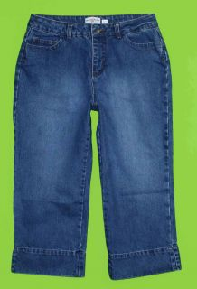 George & Martha sz 10 Capri Womens Blue Jeans Denim Pants GI26
