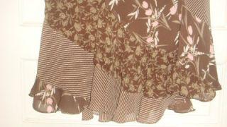 womens george brown flower long skirt size 12