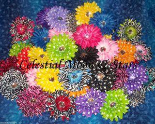 Flowers Gerbera Daisies Hair Clips Camo Daisies Neon New