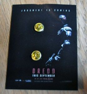 JUDGE DREDD PROMOTIONAL METAL BADGE PROMO PIN SDCC COMIC CON 2012