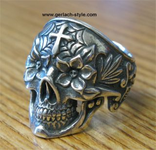 Steve Gerlach Day of The Dead Sugar Skull Ring Borracho Gerlach Style