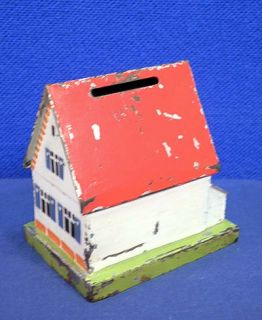 Tin House Cottage Still Bank Marklin Not George Brown Cast Iron