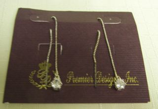 Premier Design Jewelry Crystal Earrings Threads New