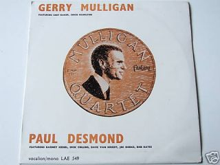 Gerry Mulligan Quartet Paul Desmond Quintet LP Mono