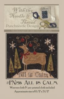 Punchneedle Embroidery Pattern All Is Calm Brenda Gervais