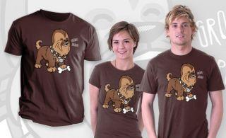 Chewie as A Puppy George Lucas Dog Satire Teefury Men Shirt