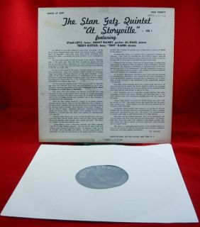Stan Getz at Storyville on Royal Roost Deep Groove Mono Orig