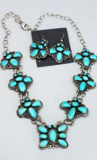 Navajo Indian GARY JOHNSON Turquoise Silver BUTTERFLY Earrings