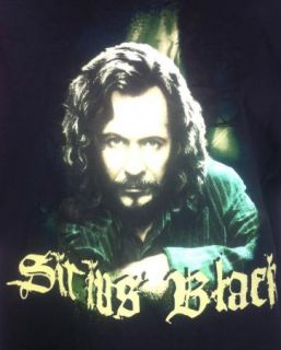 Black Harry Potter Mens T Shirt XL Gary Oldman Tee Prisoner of Azkaban