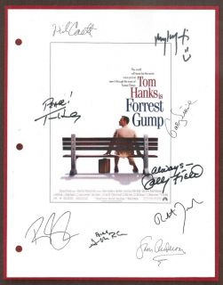 FORREST GUMP SCRIPT SIGNED RPT TOM HANKS SALLY FIELD GARY SINISE