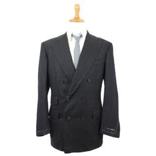 Gianfranco Ferre Saintandrews Wool Cashmere Double Breasted Blazer US