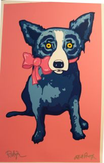 George Rodrigue Blue Dog Sweetie Pie Signed Artist Proof