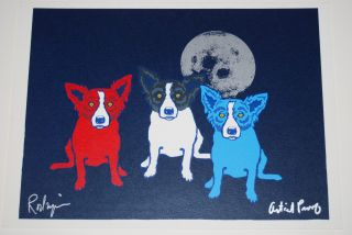 FTI George Rodrigue Blue Dog Me, Myself & I Artist Proof Rare Print