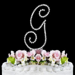 Letter G Renaissance Monogram Wedding Cake Topper