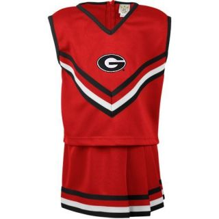 Georgia Bulldogs Youth Girls Two Piece Cheer Set Red Black