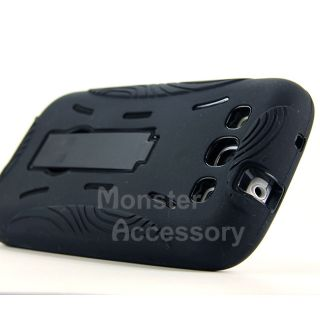 Black G2 Kickstand Hybrid Hard Case Cover for Samsung Galaxy s 3 III
